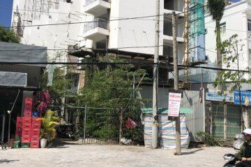 Bán khách sạn đang xây dựng mặt tiền Trần Hưng Đạo.